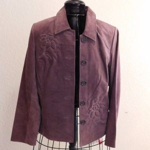 Bernardo Lavender Purple Washable Suede Jacket S
